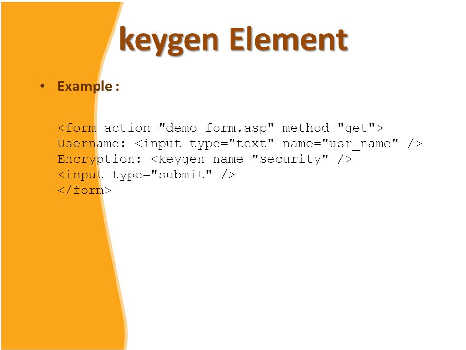 keygen tag example
