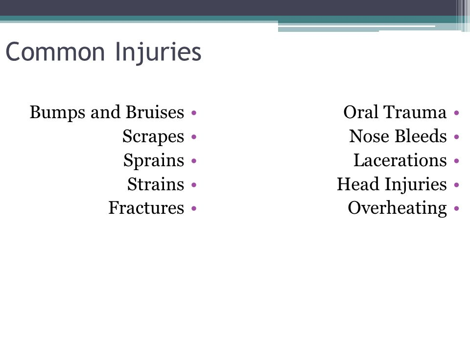 Emergency Splinting and Trauma First Aid  Objectives Review