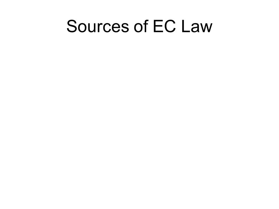 Sources of EC Law