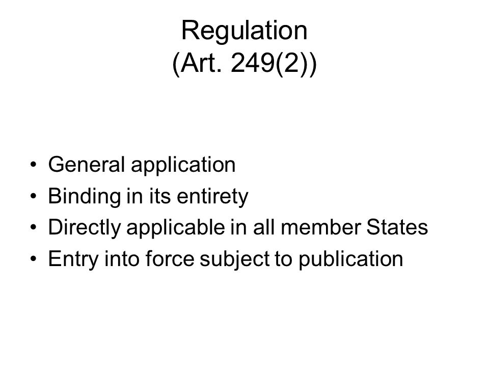 Regulation (Art.
