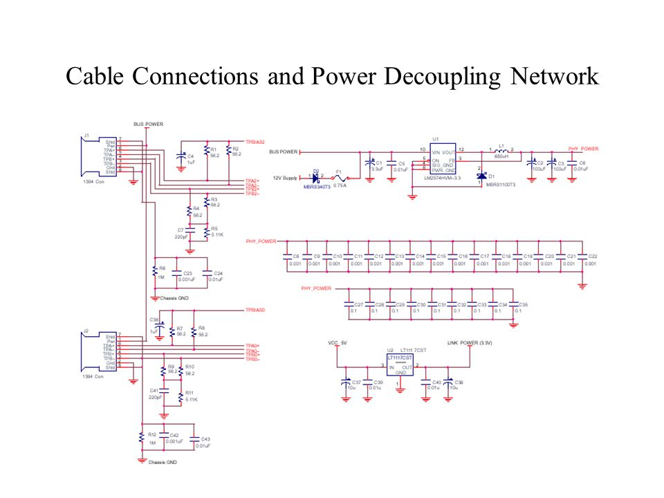 Cable Connections and Power Decoupling Network