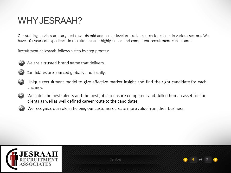Services WHY JESRAAH.