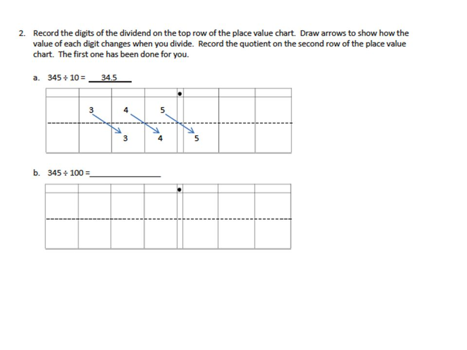 Multiplicative Patterns On The Place Value Chart Ppt Video Online