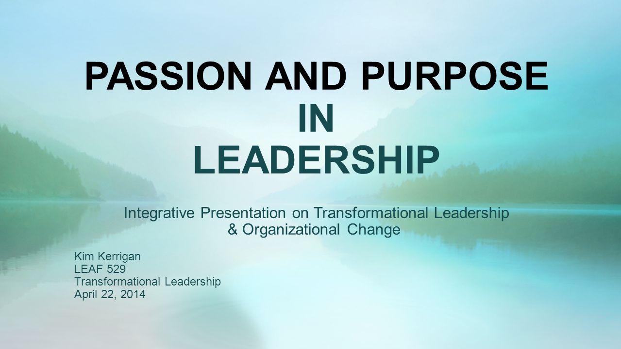 transformational leadership organizational change
