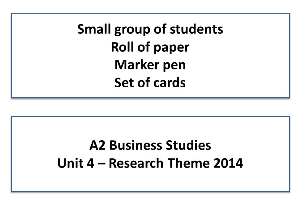 small group analysis paper