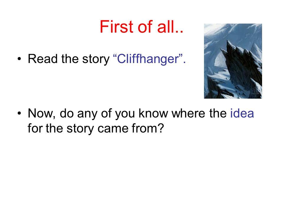 CLIFF-HANGER (short story)