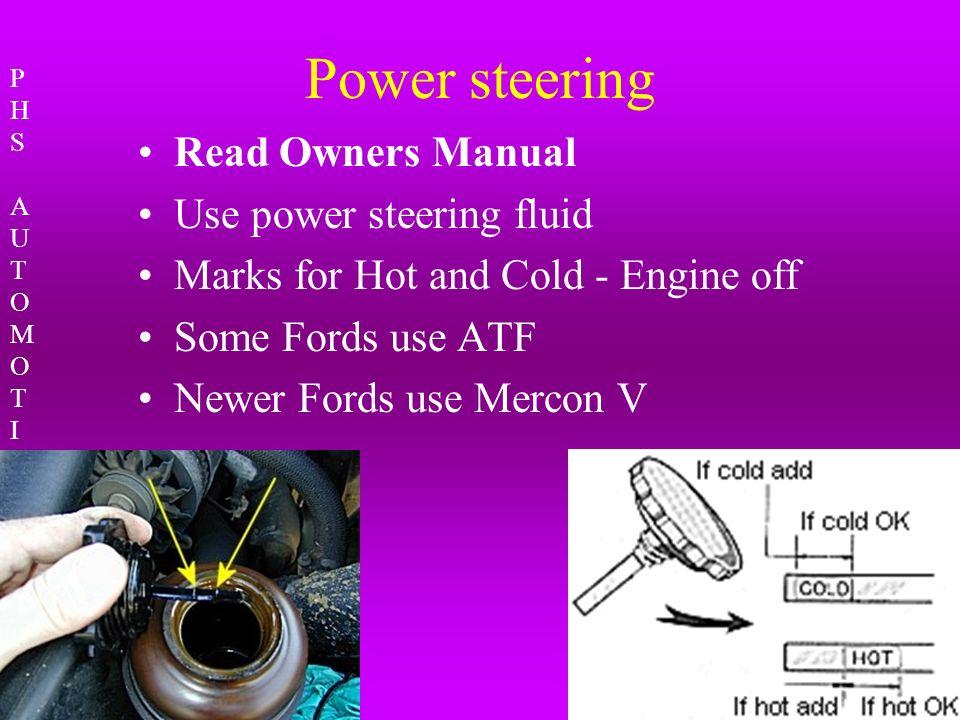 Mercon Vs Mercon V Power Steering Fluid