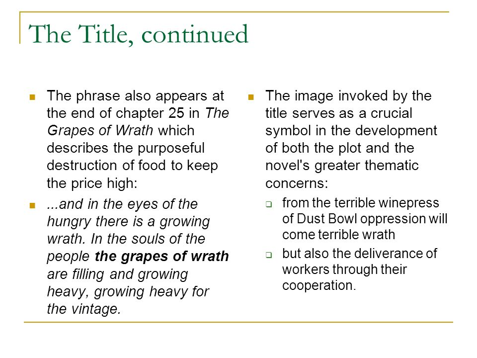 grapes of wrath title