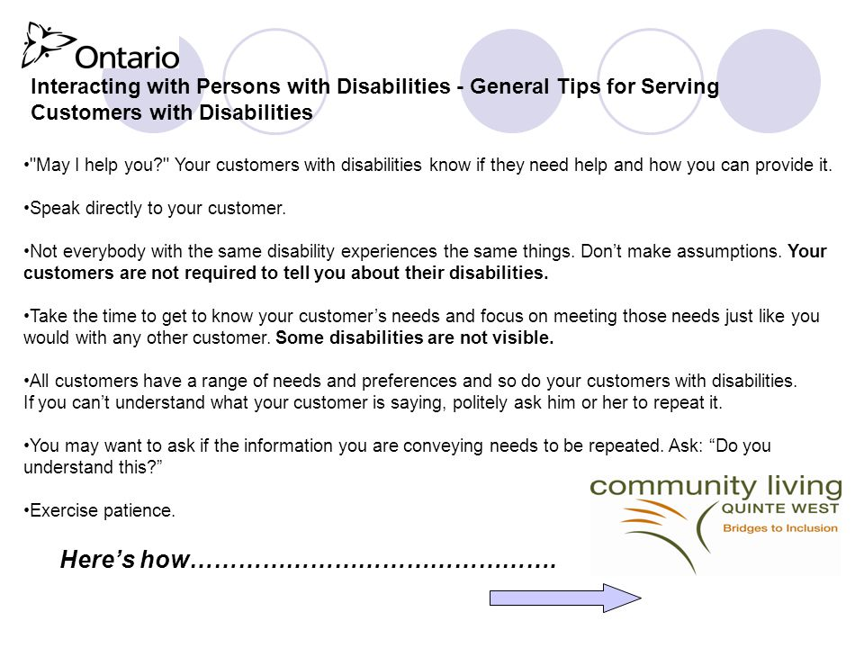 Understanding the Accessibility for Ontarians with