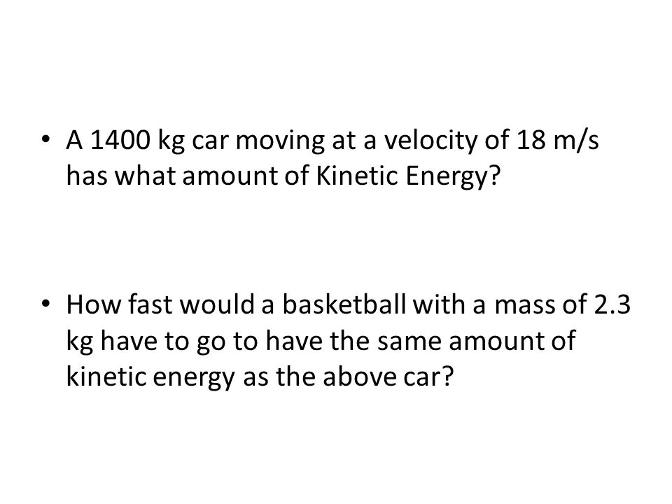 Kinetic and Potential Energy Notes Chapter 5-2. Mechanical Kinetic ...