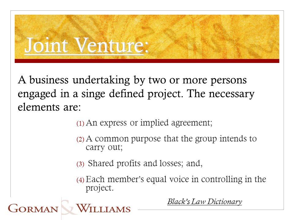 Strategic Alliances Joint Ventures Martin B King Esq Gorman