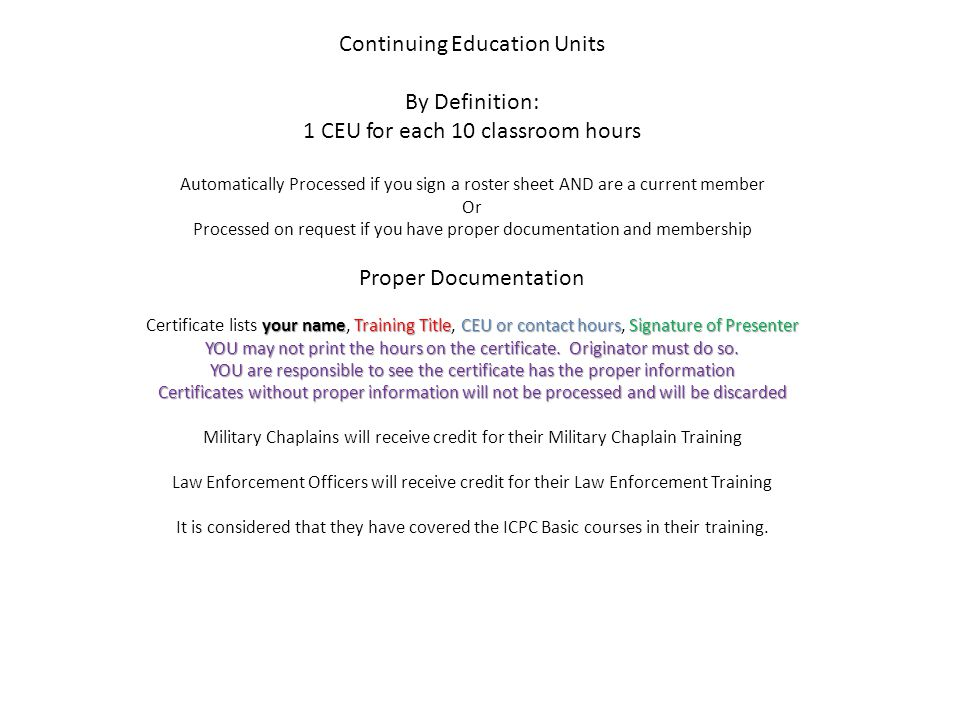 ICPC Training Accreditation What you have always wanted to know ...