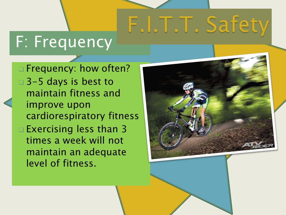 F: Frequency  Frequency: how often.