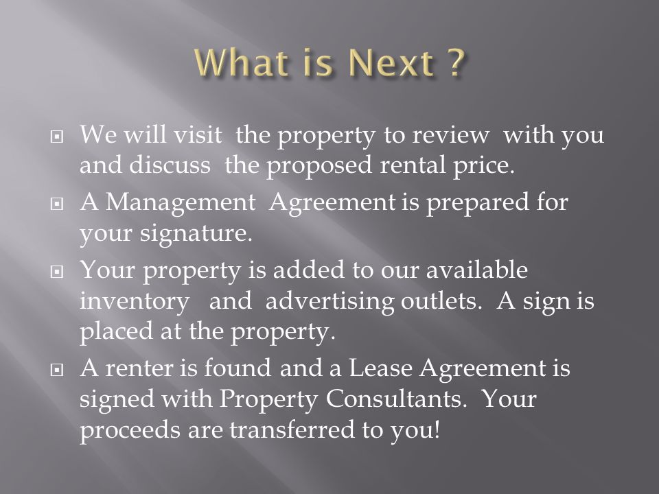 Quality Property Management Of Columbias Best Rental Homes Ppt