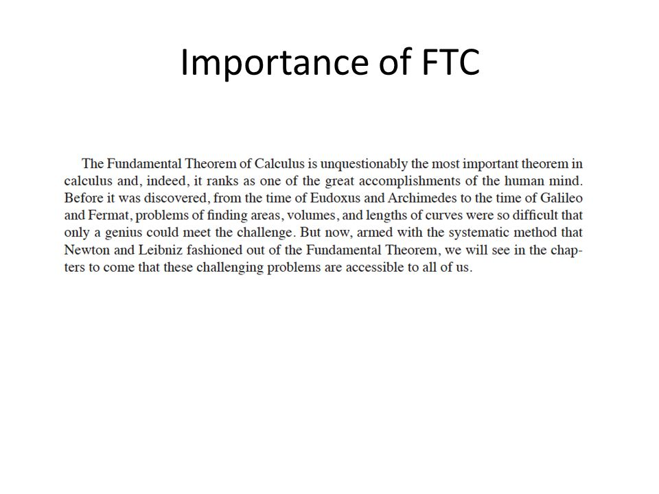 Importance of FTC