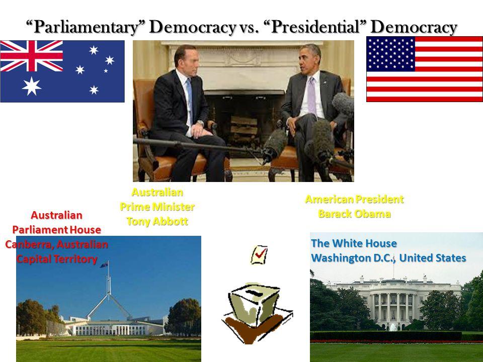 """R69- Government in Australia  """"Parliamentary"""" Democracy vs"""