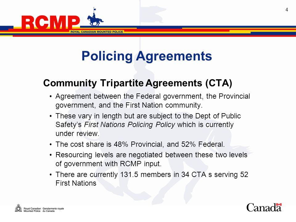 1 Police Resources In Saskatchewan 2 Policing Agreements Provincial