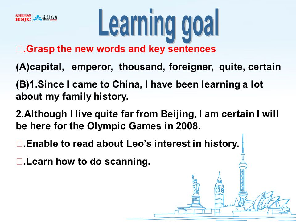 I've been studying history in China  Unit 6 Reading  - ppt download