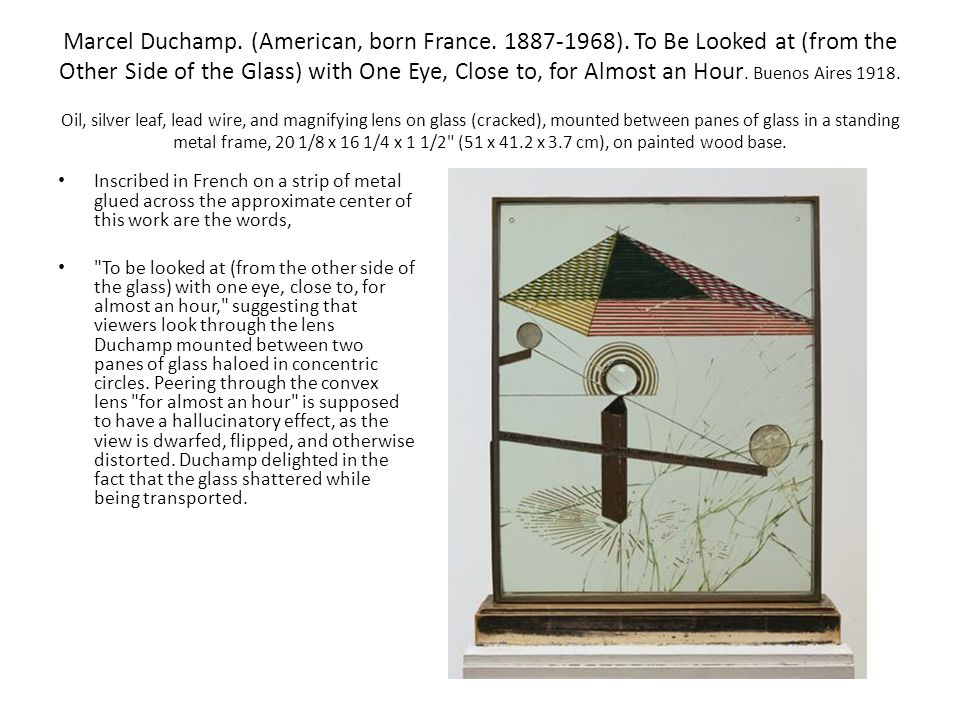 Marcel Duchamp. (American, born France ).