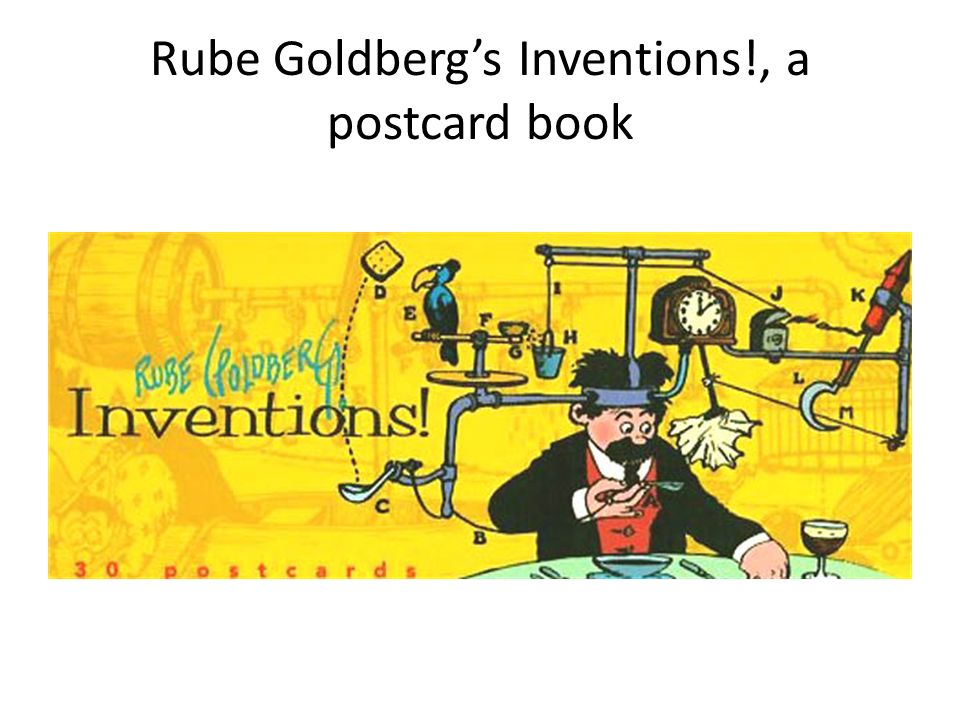 Rube Goldberg's Inventions!, a postcard book