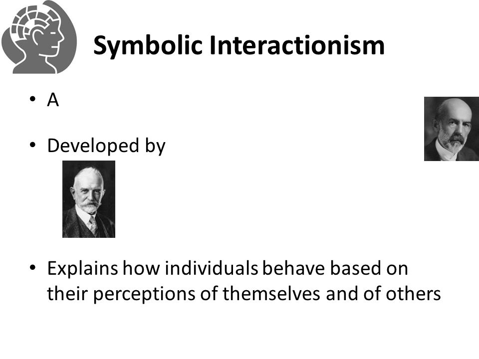 Symbolic Interactionism A Developed by Explains how individuals behave based on their perceptions of themselves and of others