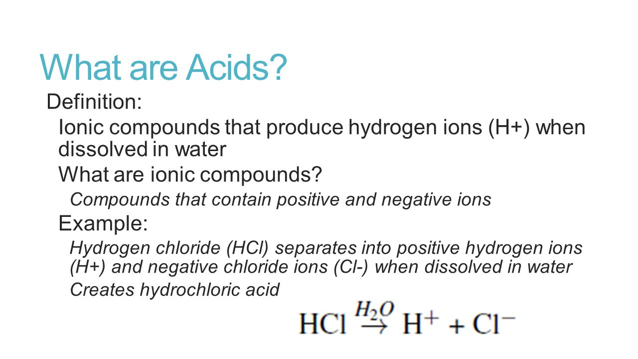 What are Acids.
