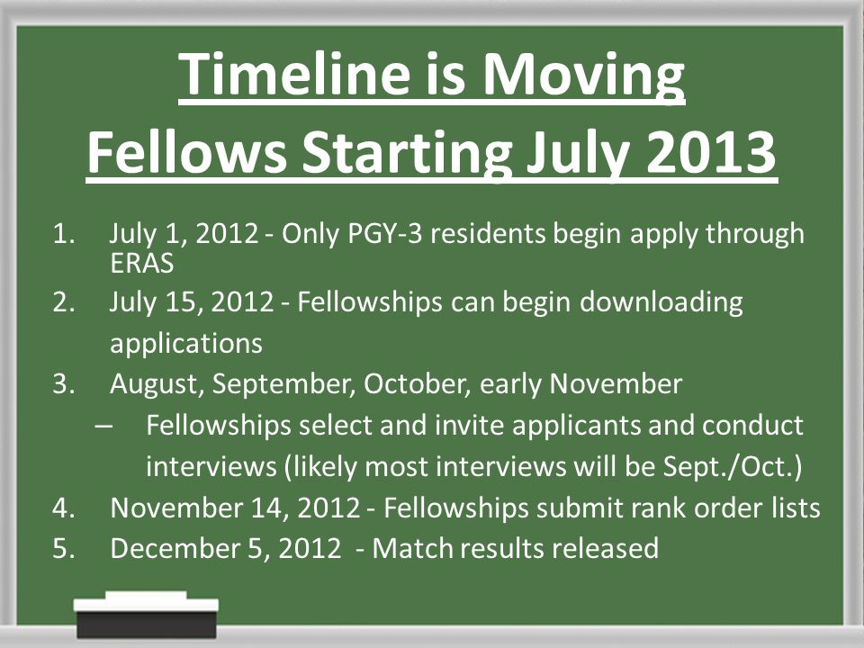 Fellowships Andrew Gutwein, M D   Timeline is Moving Fellows