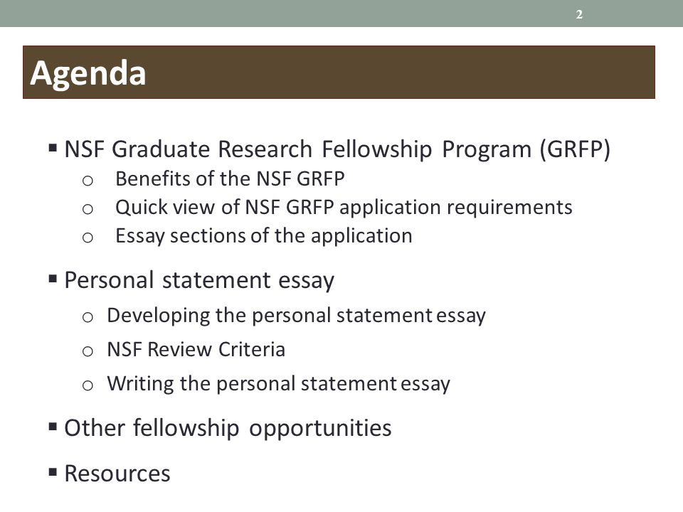 nsf grfp essay 8 tips for crafting a winning nsf grfp application sep 22, 2017 • views 3,833 guest author and second-year phd student brittany mihalec-adkins shares her tips for creating a compelling and robust national science foundation (nsf) graduate research fellowship program application.