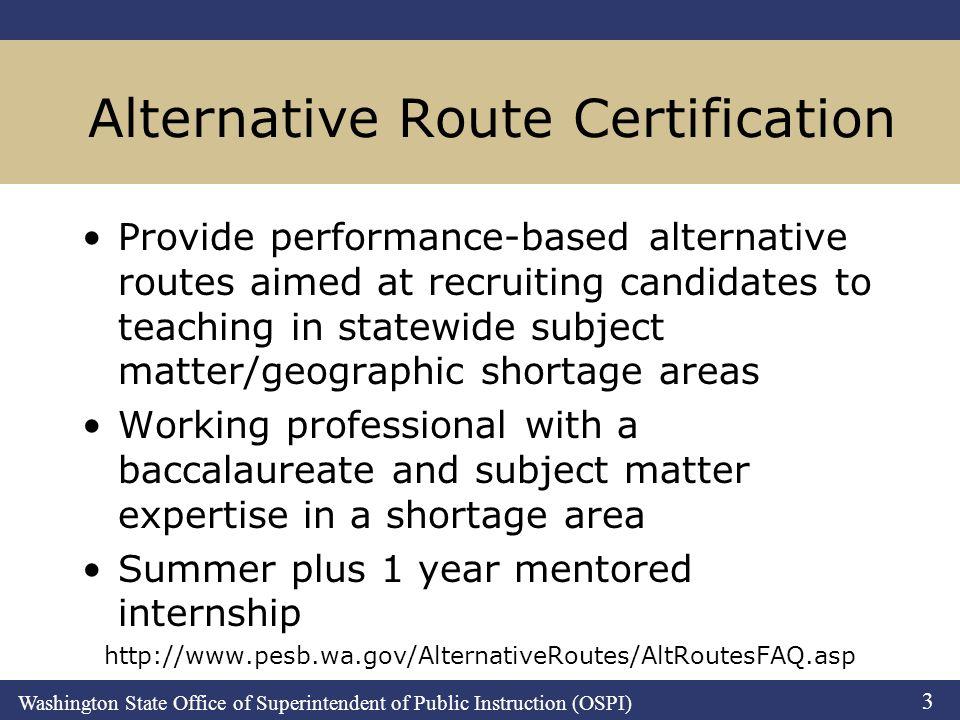 Washington State Office of Superintendent of Public Instruction ...