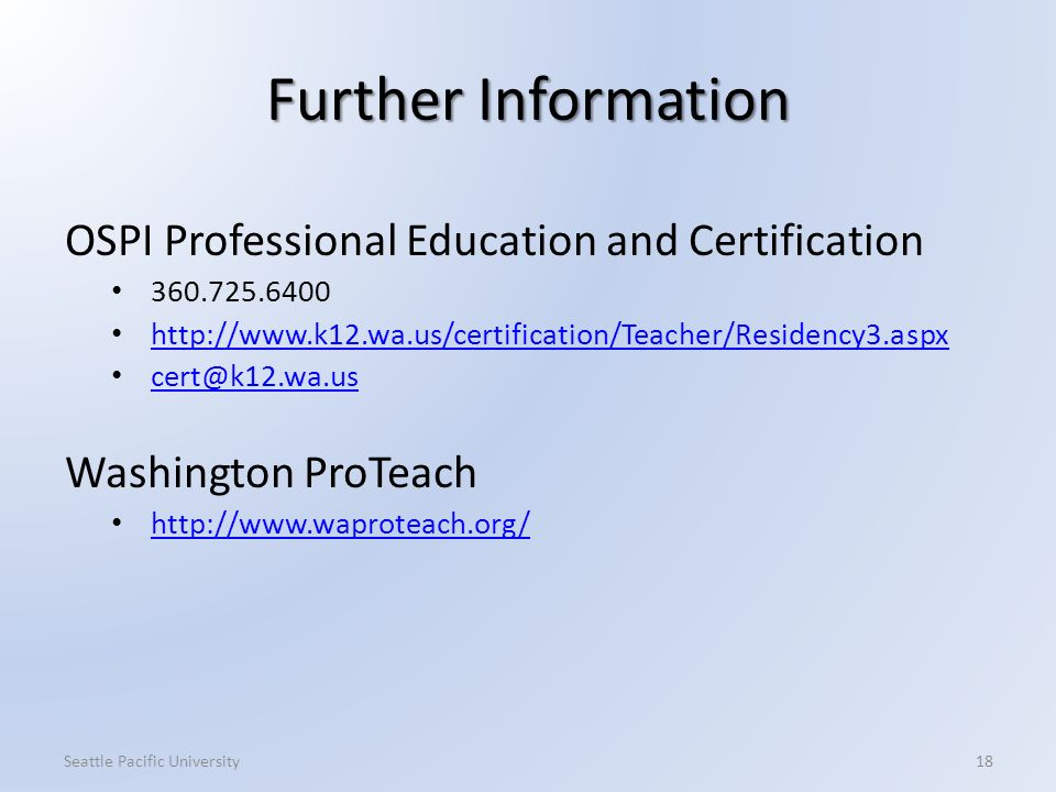 Teacher Professional Certification Welcome! Thank you for coming ...