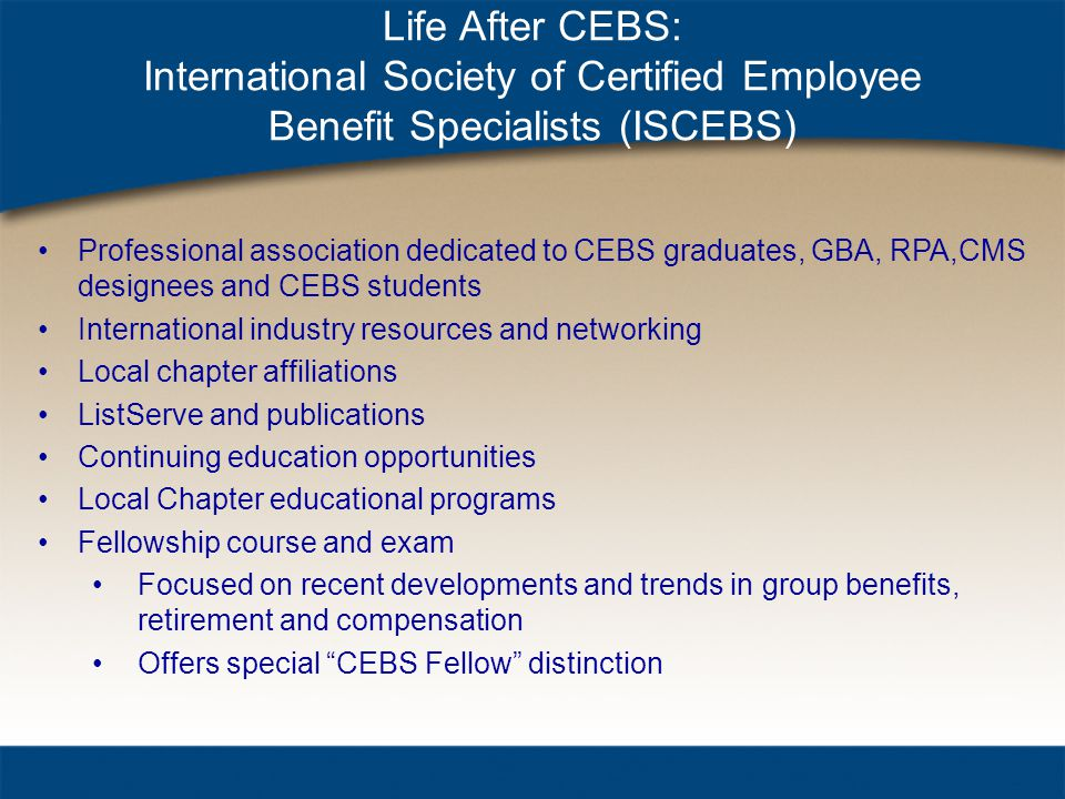 The Standard of Excellence in Employee Benefits Presented by: Wayne ...