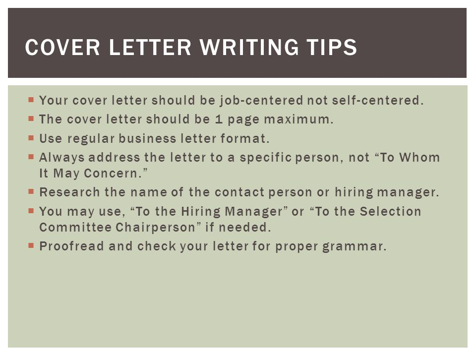 33 cover letter writing