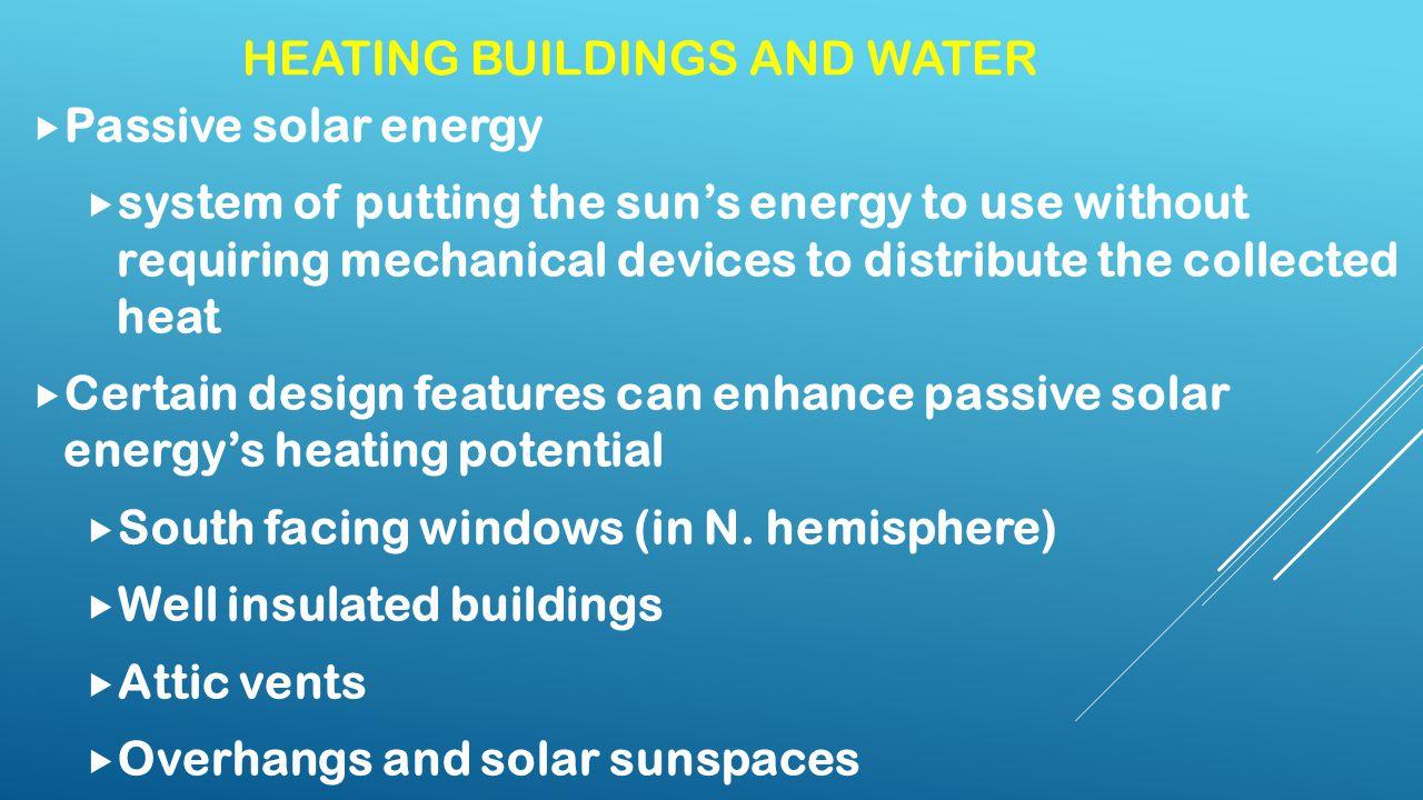 RENEWABLE ENERGY – SOLAR. DIRECT SOLAR ENERGY  Varies with ...