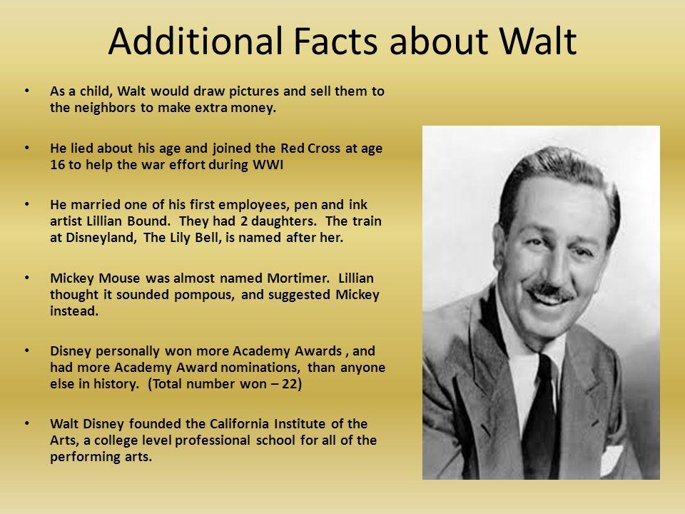 Walter Elias Disney Try To Imagine A World Without Walt Disney A