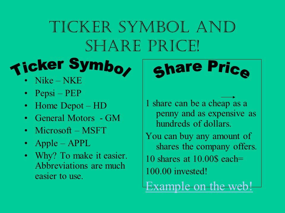 Pepsi Stock Symbol Choice Image Meaning Of Text Symbols