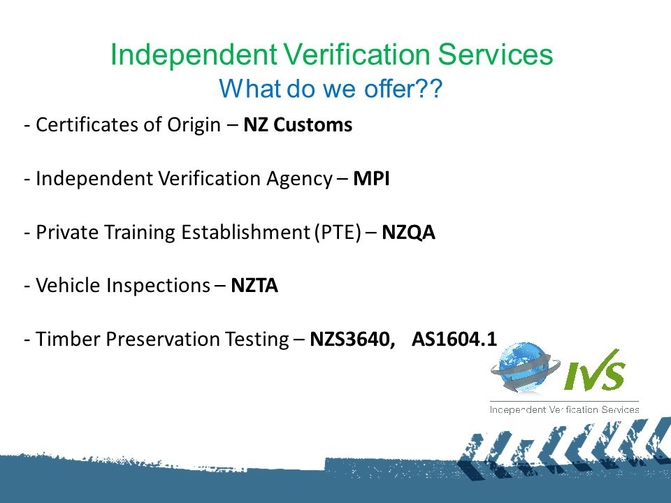 Certificates of Origin IVS supports New Zealand exports and