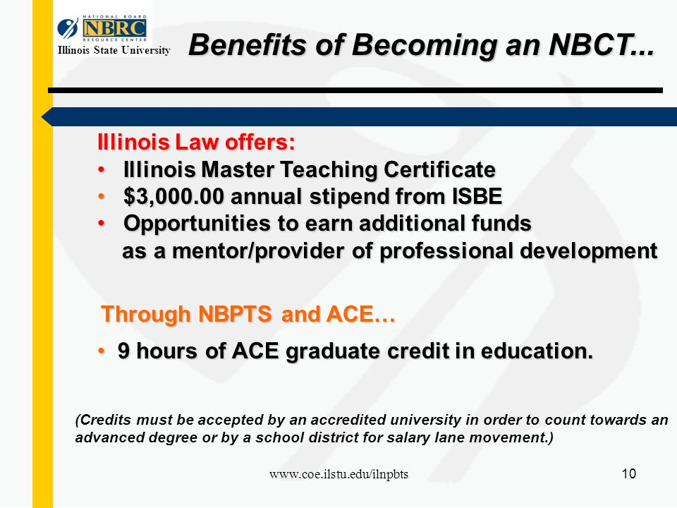 Illinois State University 1 Awareness National Board Certification ...