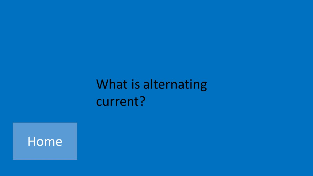 What is alternating current Home