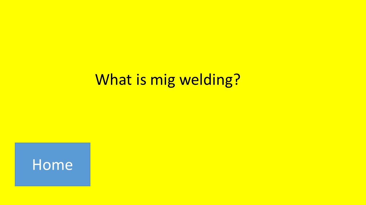What is mig welding Home