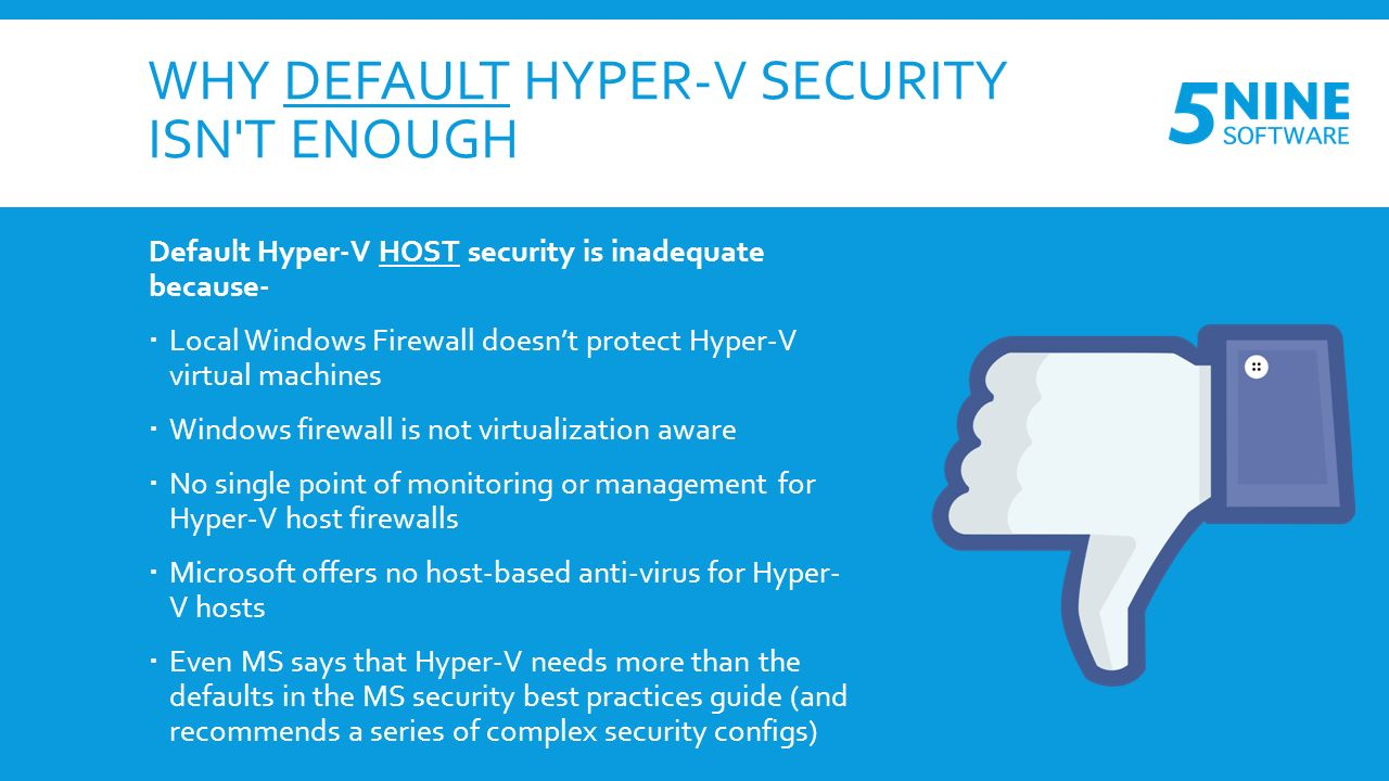 3 STEPS TO SECURING YOUR HYPER-V INFRASTRUCTURE by Virtualization