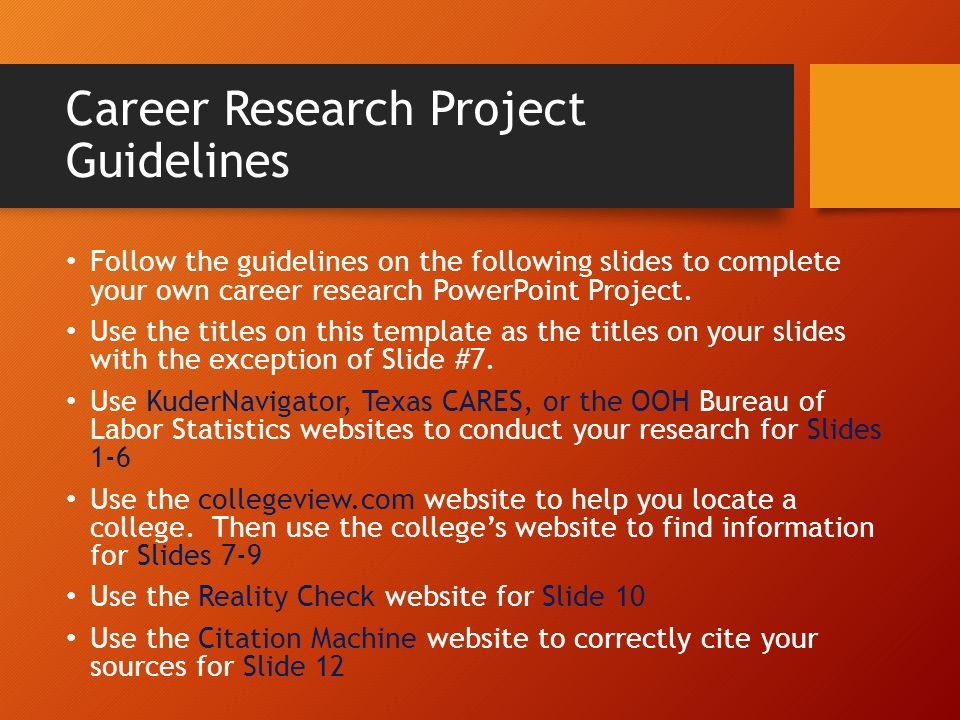 research project help In the research project, you will have the opportunity to study an area of interest in depth it will require you to use your creativity and initiative, while developing the research and presentation skills you will need in further study or work.