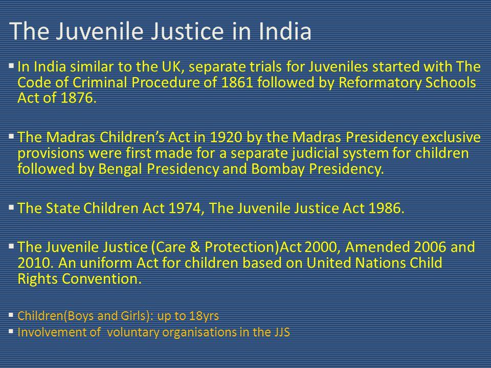 juvenile justice act 1986