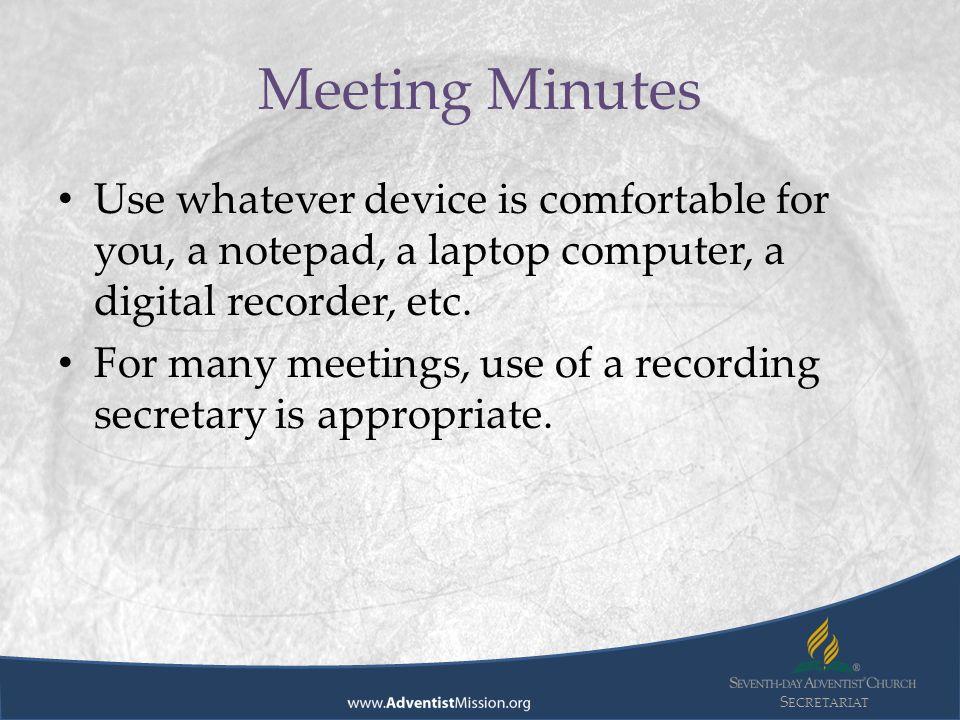 s ecretariat division secretariat advisory preparing meeting agendas