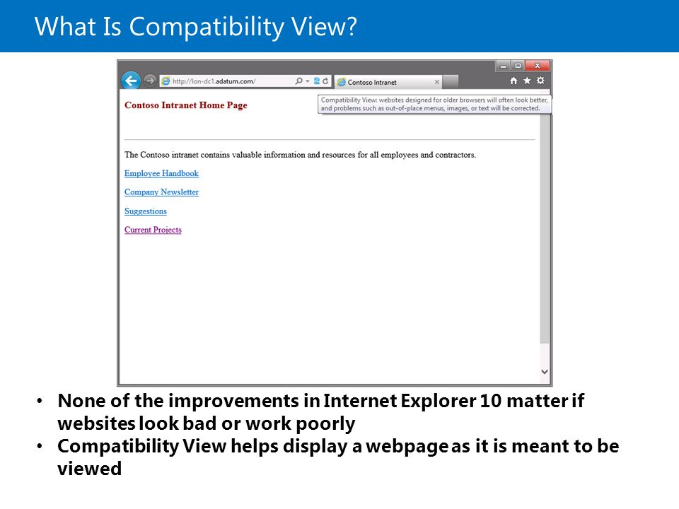 What Is Compatibility View.
