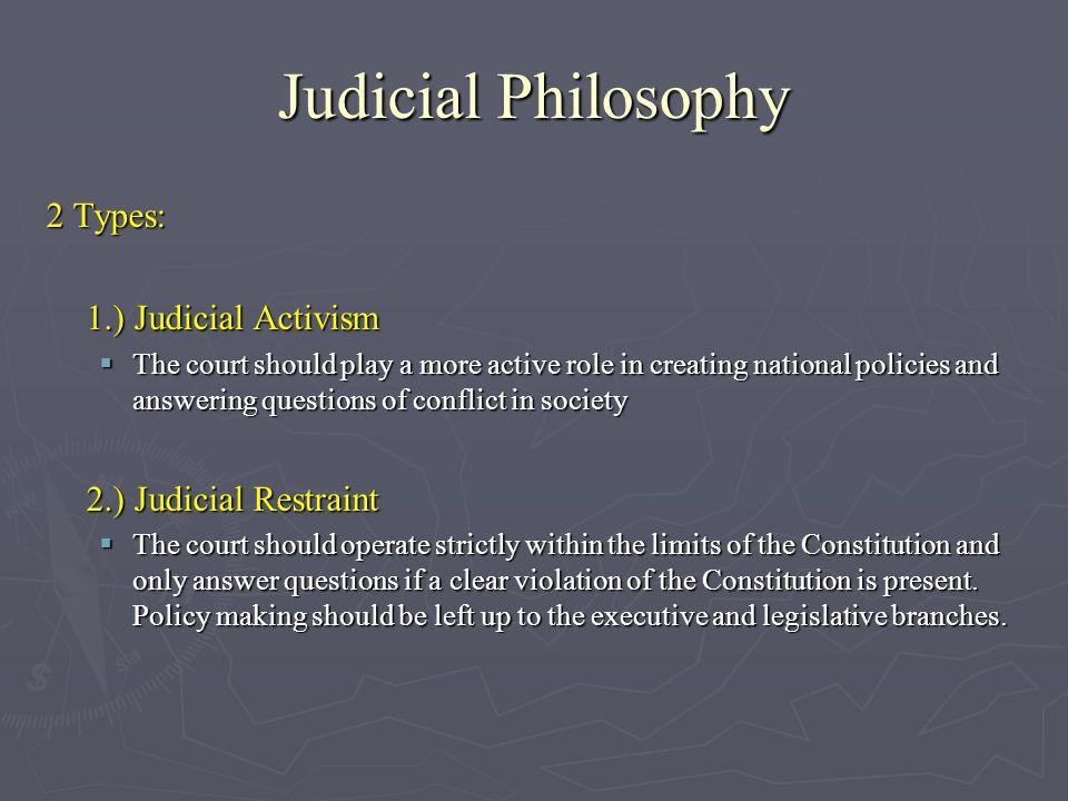 types of judicial philosophy