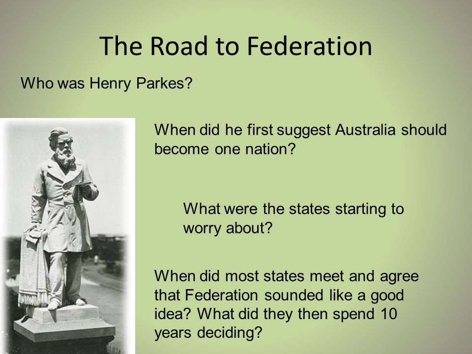 what year did australia become a federation