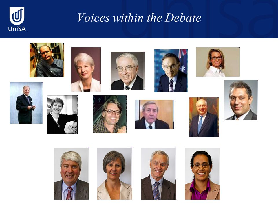Voices within the Debate