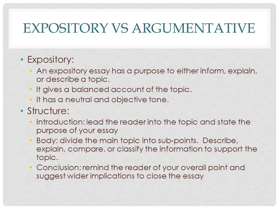 argumentative vs expository ppt