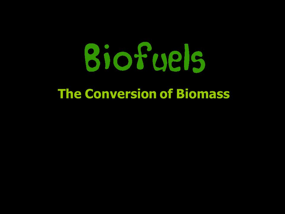 The Conversion of Biomass