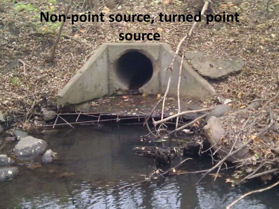 Non-point source, turned point source